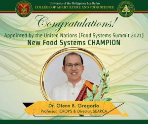SEARCA Director appointed UN Food Systems Champion