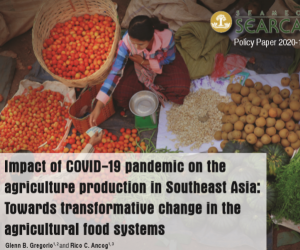 COVID 19 to reduce agricultural production in Southeast Asia (MT) by 3.11%, 100.77 million farmers affected