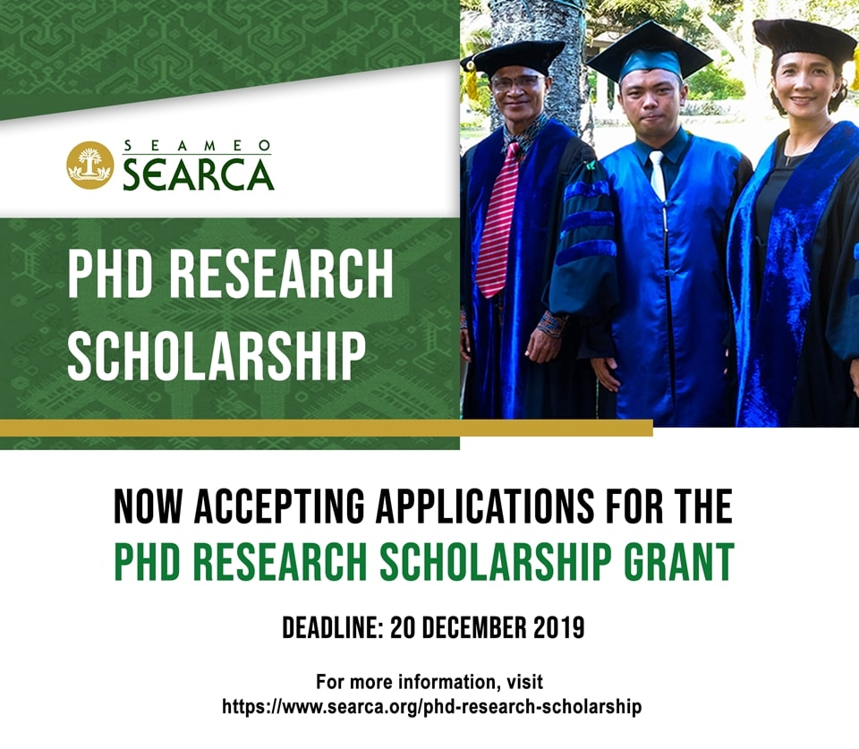 searca phd research scholarship applications now open 01