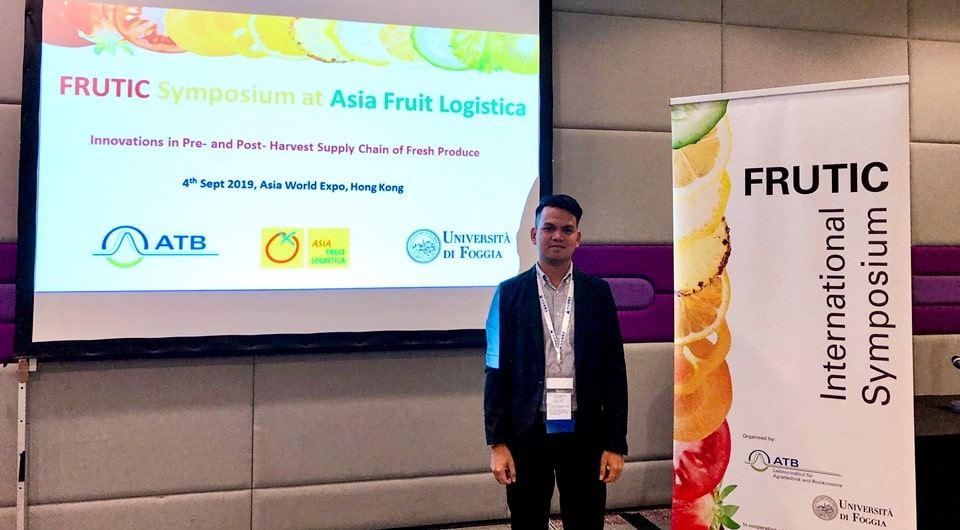 Engr. Philip Donald C. Sanchez during the 12th FRUTIC Conference in Asia World Expo, Lantau, Hong Kong, China on September 4-6, 2019.